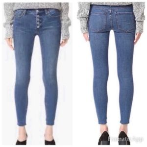 Free People Reagan Exposed Button Fly Raw Hem Jean